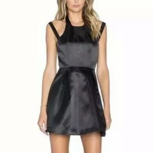 NWT Lovers & Friends REVOLVE black satin mini
